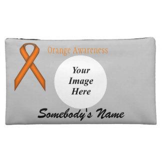 Orange Standard Ribbon Template Makeup Bag