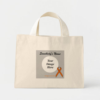 Orange Standard Ribbon Template Mini Tote Bag