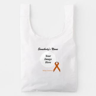 Orange Standard Ribbon Template Reusable Bag