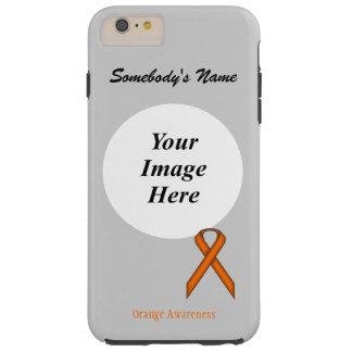 Orange Standard Ribbon Template Tough iPhone 6 Plus Case
