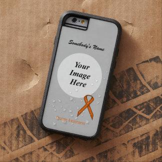 Orange Standard  Ribbon Template Tough Xtreme iPhone 6 Case