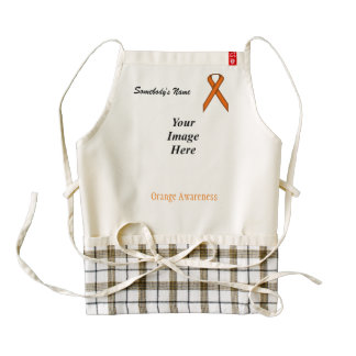 Orange Standard Ribbon Template Zazzle HEART Apron