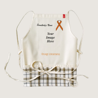 Orange Standard Ribbon Template Zazzle HEART Apron