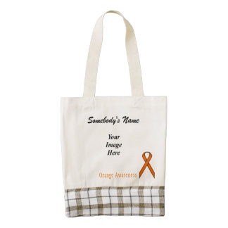 Orange Standard Ribbon Template Zazzle HEART Tote Bag