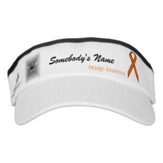 Orange Standard Ribbon Template Headsweats Visor