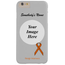 Orange Standard Ribbon Tmpl by Kenneth Yoncich Barely There iPhone 6 Plus Case