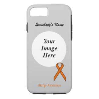 Orange Standard Ribbon Tmpl by Kenneth Yoncich iPhone 7 Case