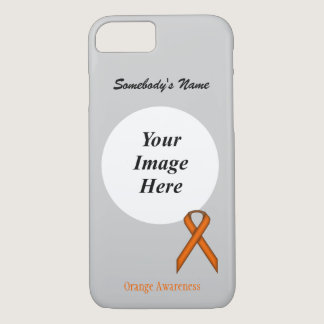 Orange Standard  Ribbon Tmpl by Kenneth Yoncich iPhone 7 Case