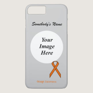 Orange Standard Ribbon Tmpl by Kenneth Yoncich iPhone 7 Plus Case