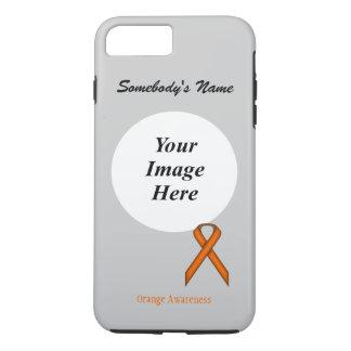 Orange Standard Ribbon Tmpl by Kenneth Yoncich iPhone 7 Plus Case