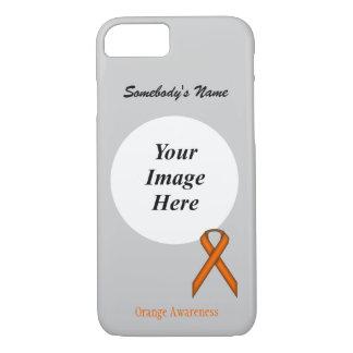 Orange Standard  Ribbon Tmpl by Kenneth Yoncich iPhone 8/7 Case
