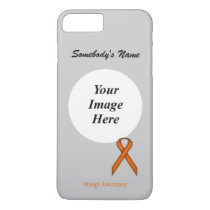 Orange Standard Ribbon Tmpl by Kenneth Yoncich iPhone 8 Plus/7 Plus Case