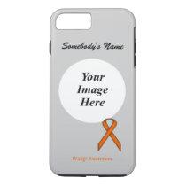 Orange Standard Ribbon Tmpl by Kenneth Yoncich iPhone 8 Plus/7 Plus Case