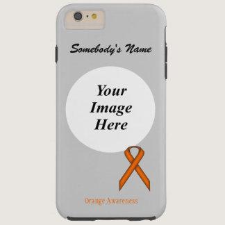 Orange Standard Ribbon Tmpl by Kenneth Yoncich Tough iPhone 6 Plus Case