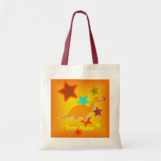 Orange Star Dinosaur Name Bag/ Tote