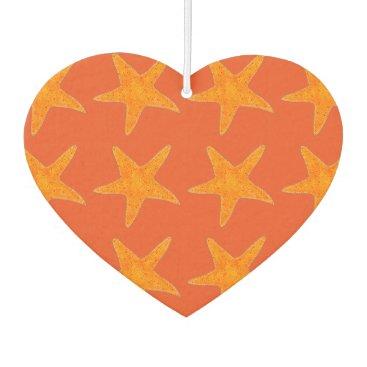 Beach Themed Orange Star Fish Starfish Ocean Beach Marine Life Car Air Freshener