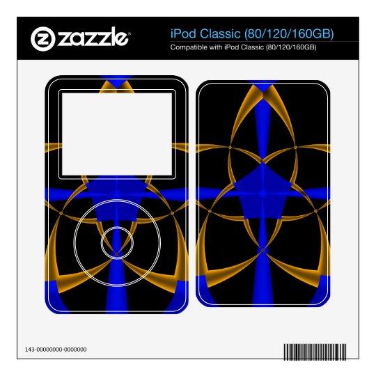 Orange Star Fractal iPod Classic Decals