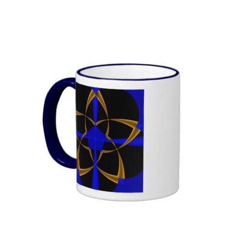 Orange Star Fractal Mug