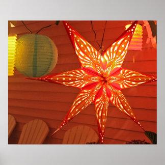 Orange Star ~ Illumination Posters