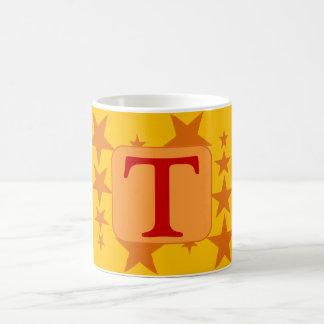 Orange Star Letter Mug