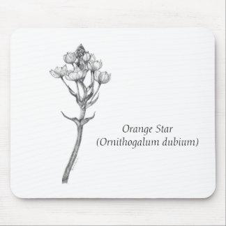 Orange Star Mouse Pad