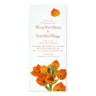 Orange Star of Bethlehem Wedding Invitation