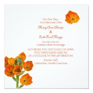 Orange Star of Bethlehem Wedding Invitation