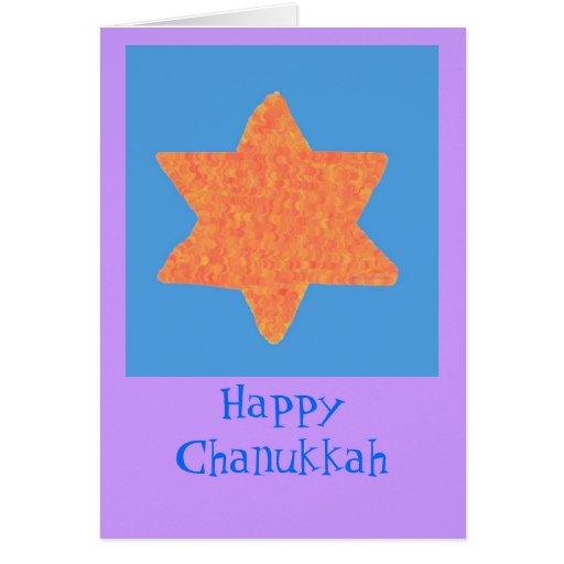 Orange Star of David, Chankukkah Card
