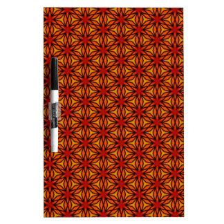 Orange Star Pattern Dry-Erase Board
