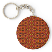 Orange Star Pattern Keychain