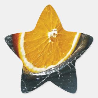 Orange Star Sticker