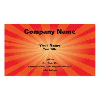 Orange Starburst Business Card
