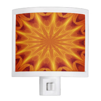 Orange Starburst Night Light