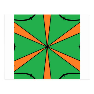 orange starbursts postcard
