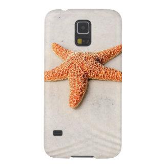 Orange starfish on a white sandy beach galaxy s5 cases