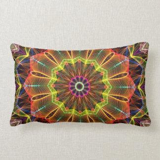 Orange Starflower  kaleidoscope Pillow