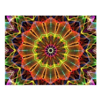 Orange Starflower  kaleidoscope Postcard