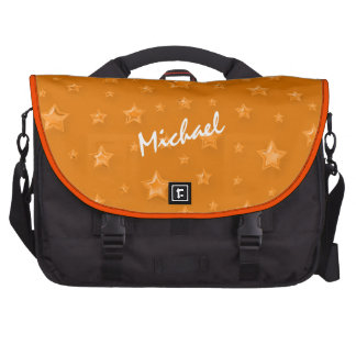 Orange Starry Laptop Bag Template