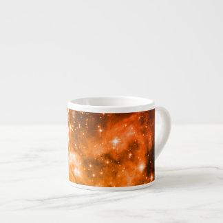 Orange Stars 6 Oz Ceramic Espresso Cup