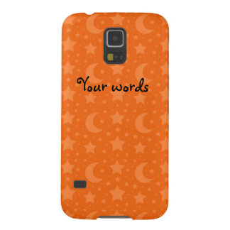 Orange stars and moons pattern galaxy s5 case