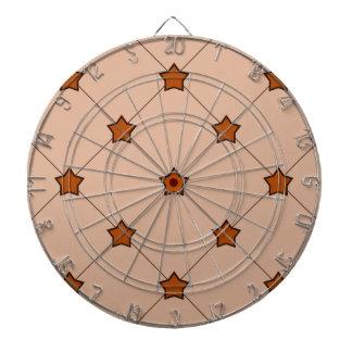 Orange Stars Diamond Pattern Dart Boards