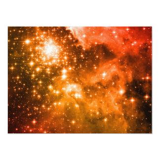 Orange Stars 6.5x8.75 Paper Invitation Card