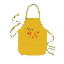 Orange Stars Kids Custom Name W1557 Kids' Apron