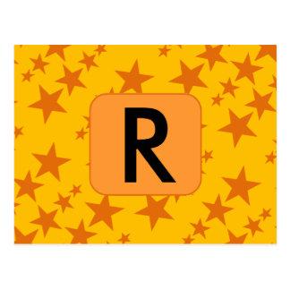 Orange Stars Postcard