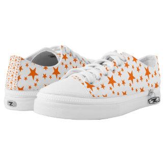 Orange Stars Printed Shoes