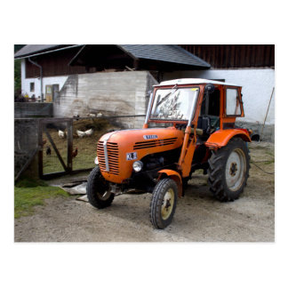 Orange Steyr Tractor KL II Postcard