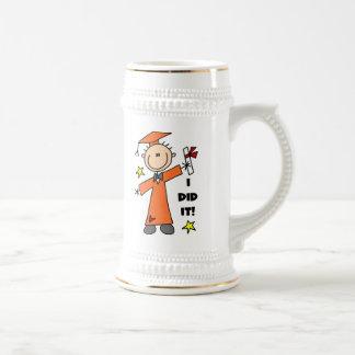 Orange Stick Figure Boy Graduate Coffee Mug