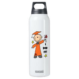 Orange Stick Figure Boy Graduate SIGG Thermo 0.5L Insulated Bottle