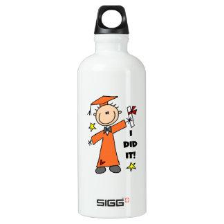 Orange Stick Figure Boy Graduate SIGG Traveler 0.6L Water Bottle
