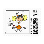 Orange Stick Figure Cheerleader t-shirts and Gifts Postage